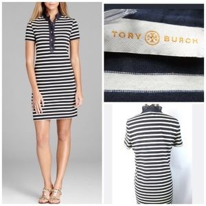 TORY BURCH STRIPED SHIFT DRESS